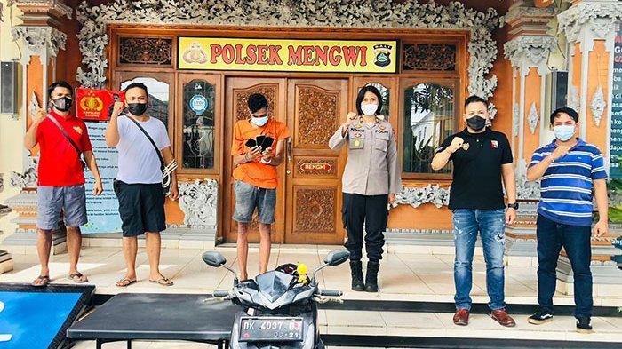 Curi HP dengan Congkel Indekos di Sading Badung, Seorang Residivis Diamankan Tim Polsek Mengwi