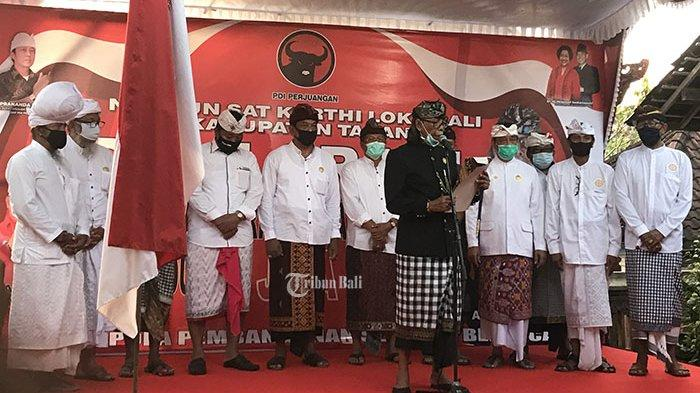 Dapat Dukungan di Pilkada Tabanan 2020, Jaya-Wira Deklarasi di Puri Agung Tabanan