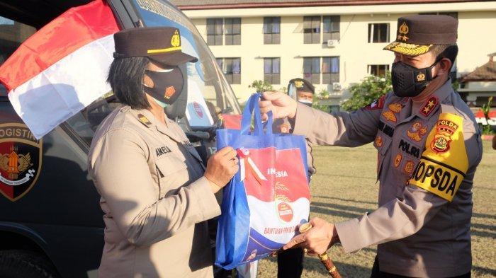 PPKM Darurat Diperpanjang, Polda Bali Bagikan 5 Ton Beras dan Ribuan Kebutuhan Pokok Lain