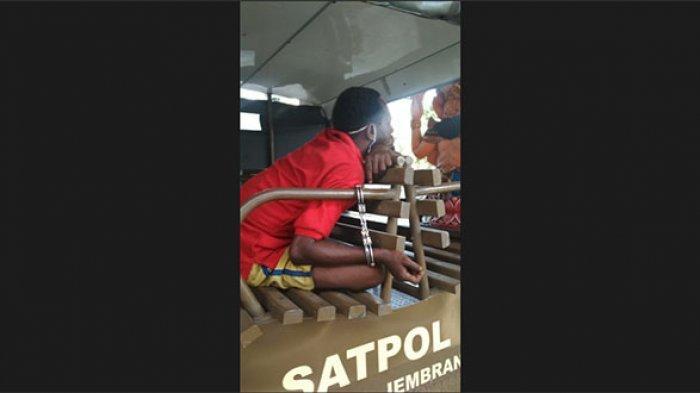 Pria yang Mabuk dan Ngamuk di Jalan Sudirman Jembrana Hari Ini Dibawa ke Rumah Singgah di Denpasar