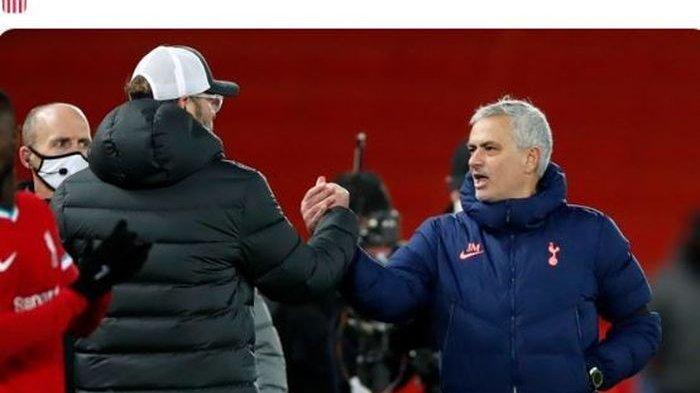 Isi Obrolan Mourinho dan Klopp Usai Tottenham Tumbang di Tangan Liverpool, Terdapat Selisih Paham
