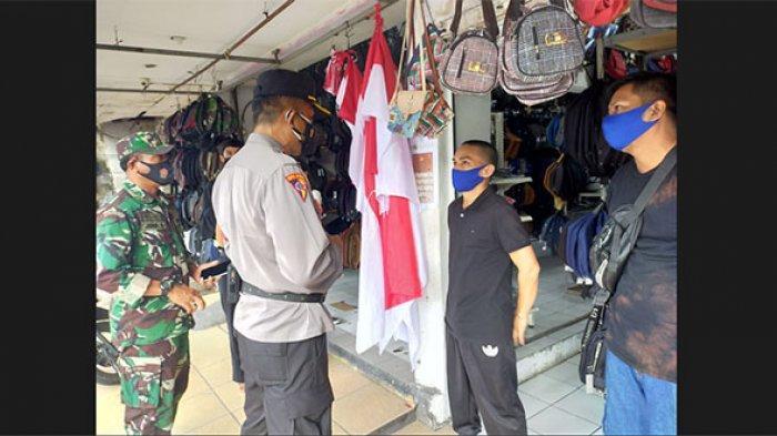 Tim Gabungan Gelar Patroli Minta Pemilik Toko Non Esensial di Denpasar Tutup Selama PPKM Darurat