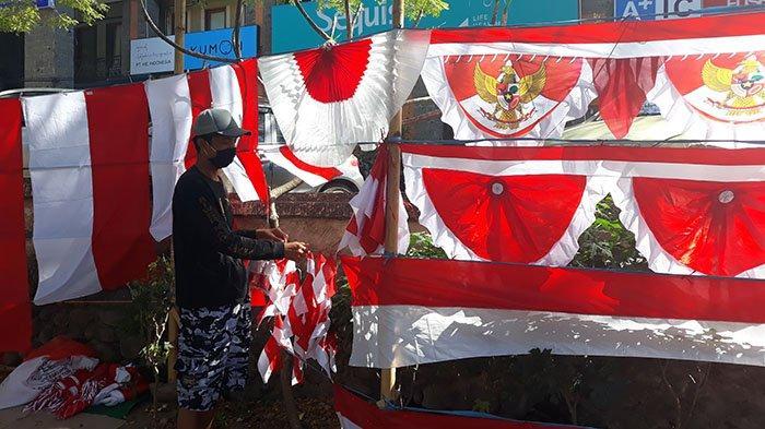 Penjualan Bendera Merah Putih Turun 50 Persen Lebih, Kadek Sudira: Jalani Saja