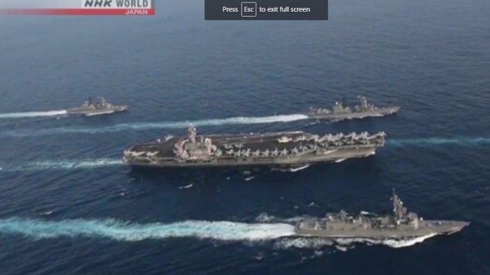 Kapal Tempur AS Lakukan Latihan Bersama dengan 2 Kapal Perang Jepang di Laut China Selatan