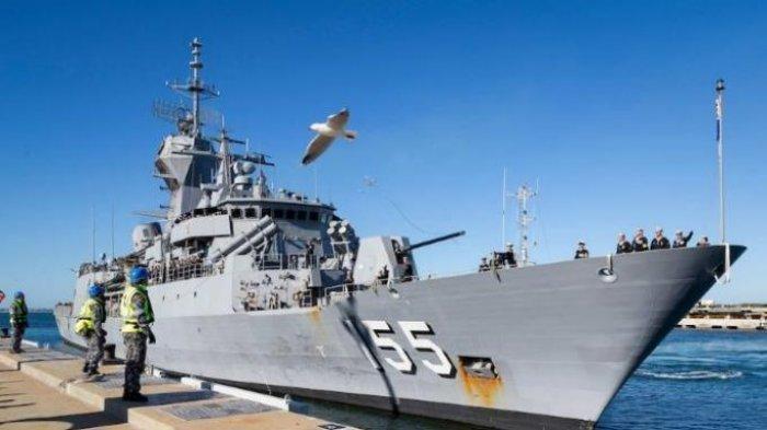 Kapal HMAS Ballarat Tiba di Bali Hari ini, Siap Bantu Pencarian Kapal Selam Nanggala 402