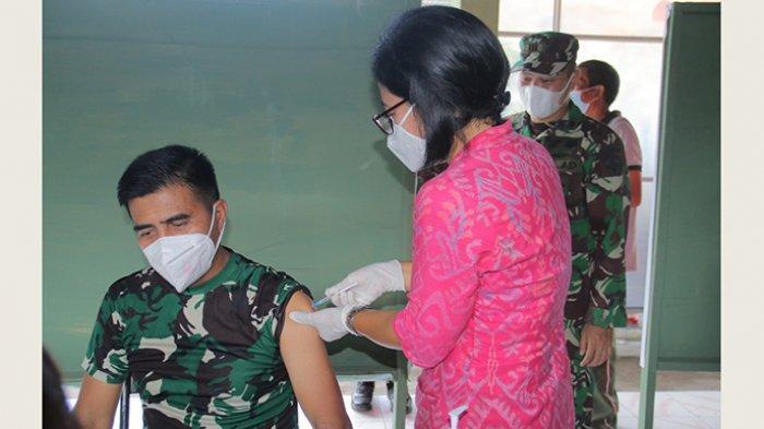 Kodam IX/Udayana Kerahkan 50 Vaksinator untuk Percepat Kegiatan Vaksinasi Covid-19 di Bali