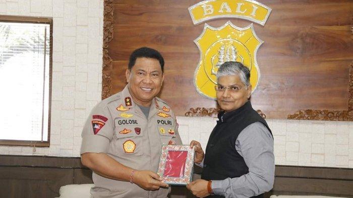 Duta Besar India Kunjungi Polda Bali, Ini Masalah yang Dibahas