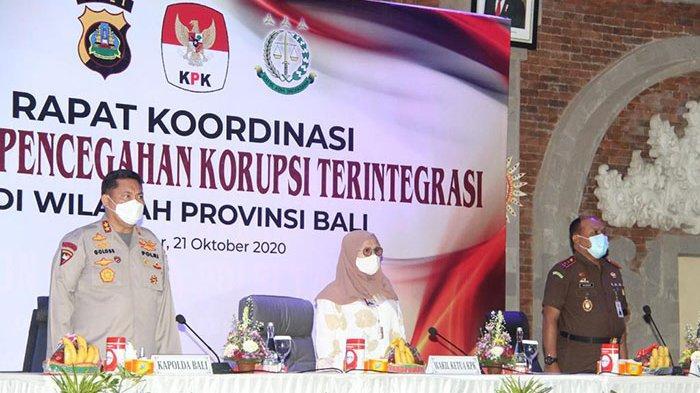 Cegah Korupsi di Masa Pandemi & Pilkada 2020,KPK Perkuat Sinergi dengan Aparat Penegak Hukum di Bali