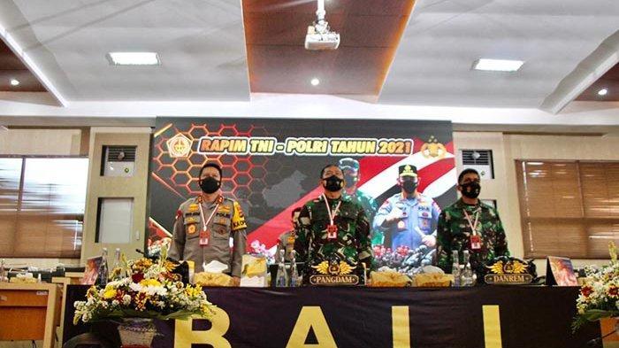 Kapolda Bali dan Pangdam IX/Udayana Ikuti Rapim TNI-Polri 2021, Jokowi:Tegakkan Hukum Seadil-adilnya
