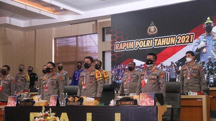 Penanganan Covid-19 hingga Etika Bermedsos,Kapolda Bali Terima Arahan Kapolri dalam Rapim Polri 2021