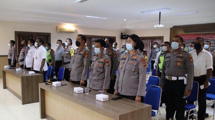 Fokus di Bidang Teknis dan Taktik, Polres Badung Gelar Latihan Pra Operasi Lilin Agung 2020