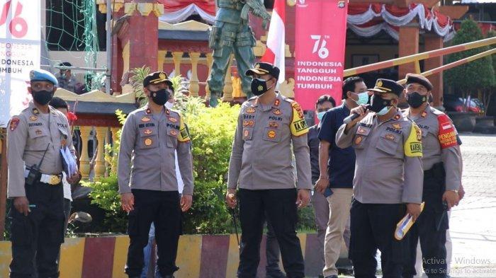 Tingkatkan Pengamanan Mako, Kapolres Badung Langsung Gelar Latihan Sispam Mako Polres