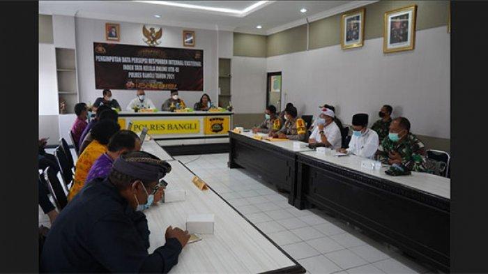 Dari Pemerintah Hingga Serikat Pekerja Jadi Responden dalam Penilaian Pelayanan Publik Polres Bangli