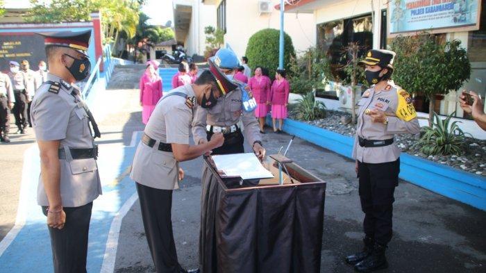 Beberapa Perwira Polisi di Polres Karangasem Bali Dimutasi