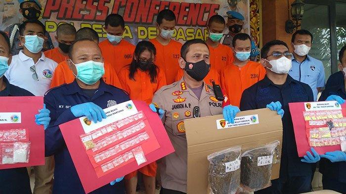 Selama Sebulan, Polresta Denpasar Berhasil Mengungkap Puluhan Kasus Peredaran Narkoba