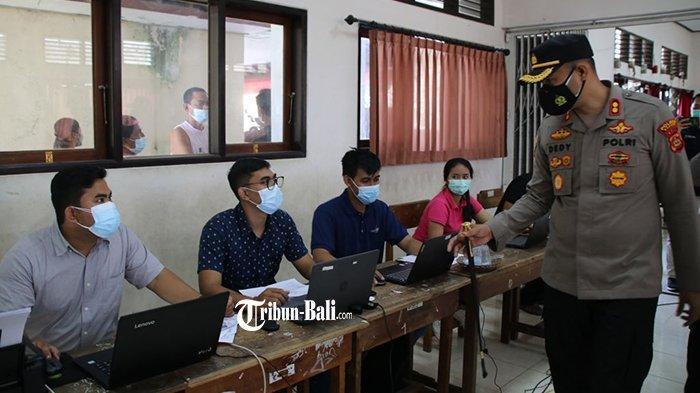 Hari Ini Polres Badung Targetkan 1.300 Dosis Vaksin untuk Masyarakat di Badung