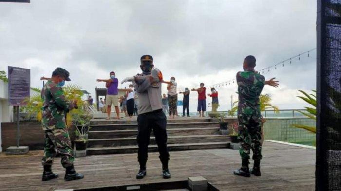 Kapolsek Ubud Didampingi Pjs Danramil Pimpin Giat Olahraga Pagi Warga Isoter di Gianyar