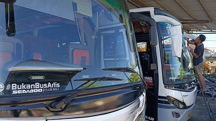 Imbas Pandemi di Bali, Dari 30 Armada yang Dimiliki Purnayasa Trans Kini Hanya Tinggal 15 Unit Bus