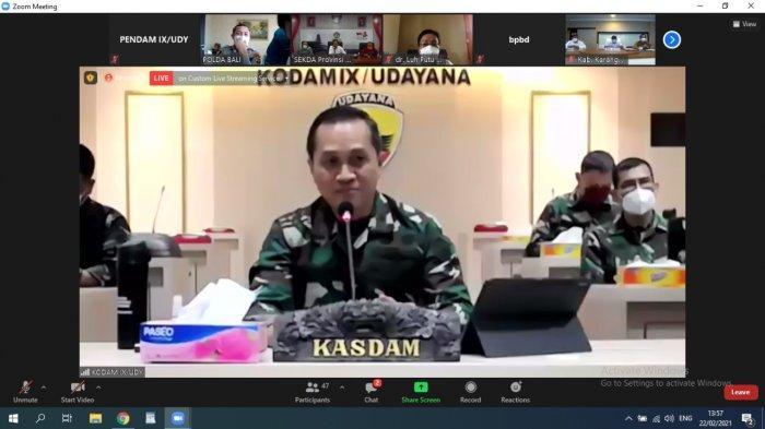 Dalam Vaksinasi Tahap II di Bali, Kasdam IX/Udayana Usulkan Purnawirawan dan Warakawuri