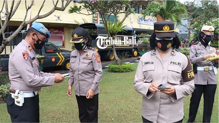 HUT Polwan Ke-73, Kasipropam Polresta Denpasar Pimpin Ops Gaktibplin yang Diikuti 81 Polwan