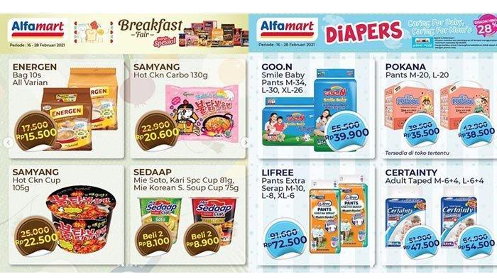 Promo Alfamart hingga 28 Februari 2021: Sarapan Murah, Diskon Diapers 28%, sampai Serba Gratisan!