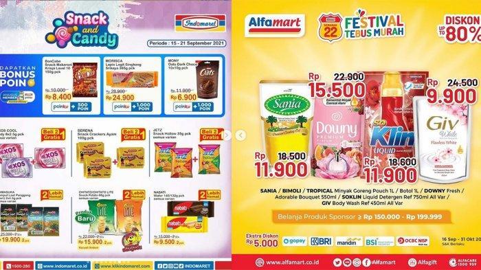 KATALOG PROMO Indomaret dan Alfamart 17 September 2021, Detergen Daia Rp 26.900, Diskon Snack