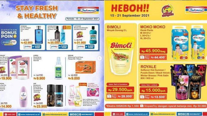 KATALOG PROMO Indomaret 16 - 21 September 2021, Minyak Goreng Murah, Diskon Diapers, Gratis Tisu
