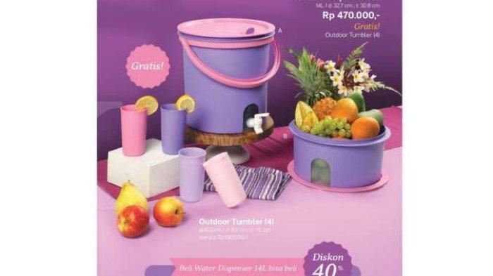 Katalog Promo Tupperware Khusus Perabotan Minum Oktober 2021, Water Dispenser 14L Cuma Rp Rp 470.000