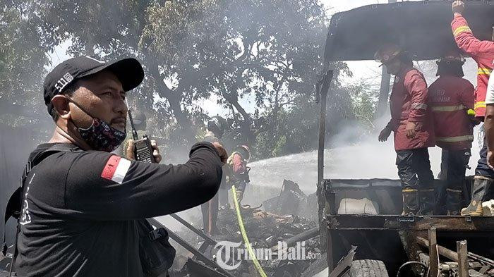 Percikan Api Las Menyambar Sampah, Api Berkobar hingga Seisi Bengkel di Bung Tomo Denpasar Ludes