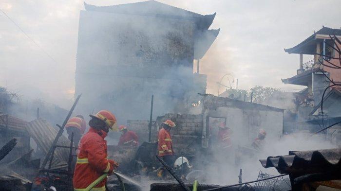 Sebuah Rumah Hangus Terbakar di Jalan Bedahulu Denpasar, Kerugian Capai Rp 300 Juta