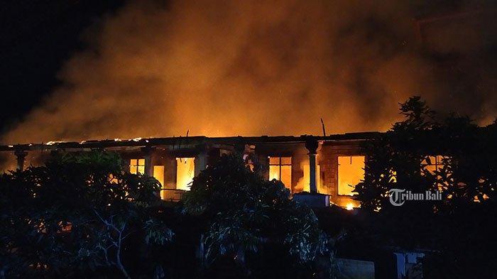 19 Kamar Kos Ludes Terbakar, Kebakaran di Belakang Krisna Oleh-Oleh Kuta Diduga Korsleting Listrik