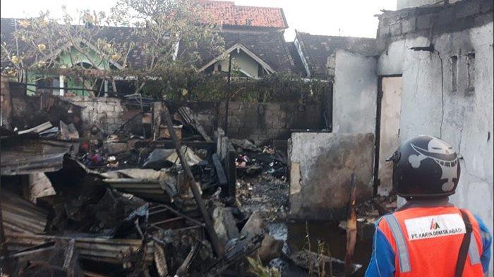 Empat Rumah Semi Permanen Ludes Terbakar di Denpasar, Polisi Masih Selidiki Penyebab Kebakaran