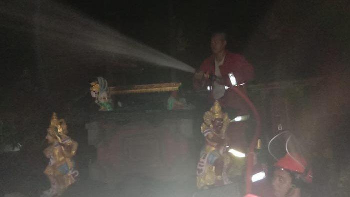 Ini Dugaan Awal Penyebab Kebakaran di Pura Paibon Arya Kenceng di Klungkung, Begini Kata Polisi