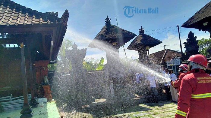 Kadek Burit Teriak Lihat Asap Mengepul, Atap Bale Piyasan Merajan Hangus Dilalap Api