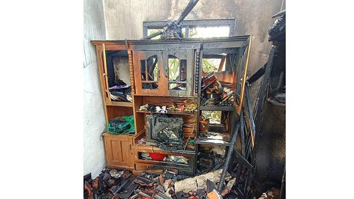 Kebakaran di Batukandik Nusa Penida,Uang Cash Rp20 Juta dan 82 Sertifikat Tanah Ludes Terbakar