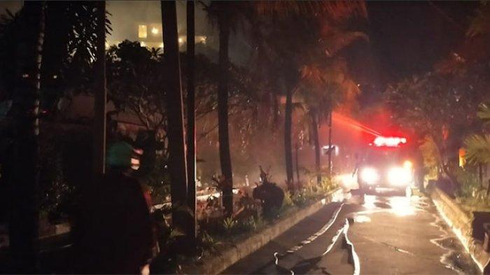 UPDATE: Kebakaran di Villa Puri Bendesa Badung, Dua Unit Bangunan Terbakar, Penanganan Sekitar 1 Jam