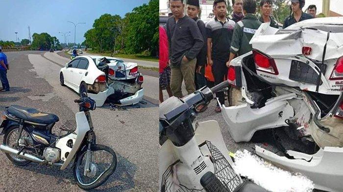 Viral Foto Bodi Belakang Honda Civic Rusak Parah Seusai Ditabrak Astrea Prima, Begini Faktanya