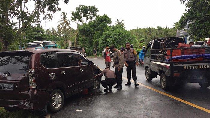 Kecelakaan Beruntun di Jalur TengkorakJalan Raya Denpasar-Gilimanuk, Libatkan 3 Unit Mobil