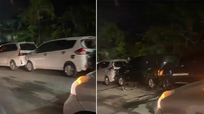 Tabrakan Beruntun Libatkan 6 Mobil di Jalan Sunset Road Kuta, Warganet: Tiati Ya Malam Mingguannya
