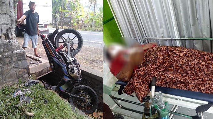 Ngurah Tewas Tabrak Beton Pembatas Rumah di Jalur Tengkorak Tabanan, Tak Pakai Helm, Motor Masuk Got
