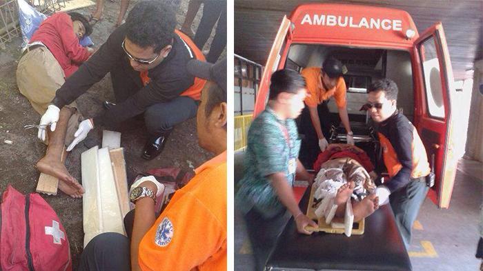 Kecelakaan di Ubung, Korban Dilarikan ke RSUP Sanglah
