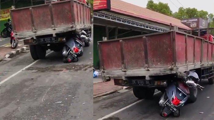 Laka lantas terjadi di Jalan Bypass Ngurah Rai, Jimbaran, Kuta Selatan, Badung, Bali pada Senin 22 Februari 2021.