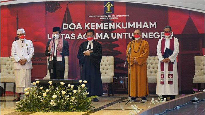 Kemenkumham Gelar Doa Kumham untuk Negeri, Dipimpin oleh Para Pemuka dari Perwakilan Lima Agama