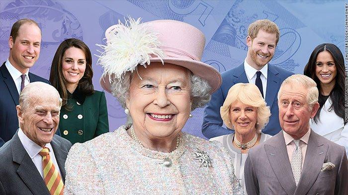 Cerita di Balik Nama 7 Anggota Kerajaan Inggris