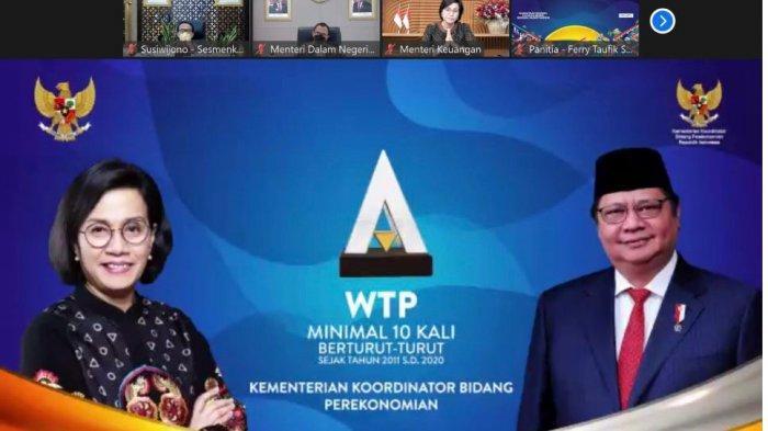 Kementerian Koordinator Bidang Perekonomian Raih Penghargaan WTP Minimal 10x Berturut-turut