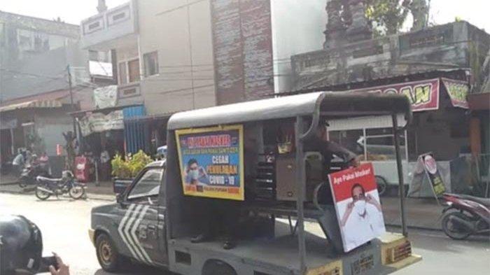 Menggunakan Voice Presiden Jokowi, Polsek Pupuan Keliling Imbau Warga Disiplin Protokol Kesehatan