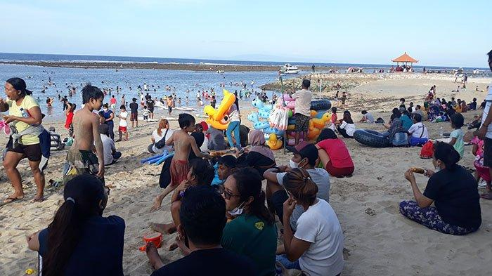 Libur Panjang Lebaran 2021, Pantai Sanur Denpasar Ramai Dikunjungi Masyarakat