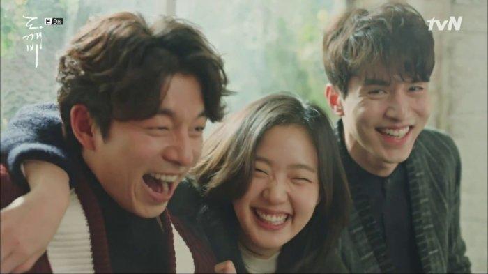 Kim Go Eun sebagai Ji Eun Tak yang ditakdirkan menjadi pengantin Goblin (facebook.com/@tvNDrama) via Tribunjogja.com