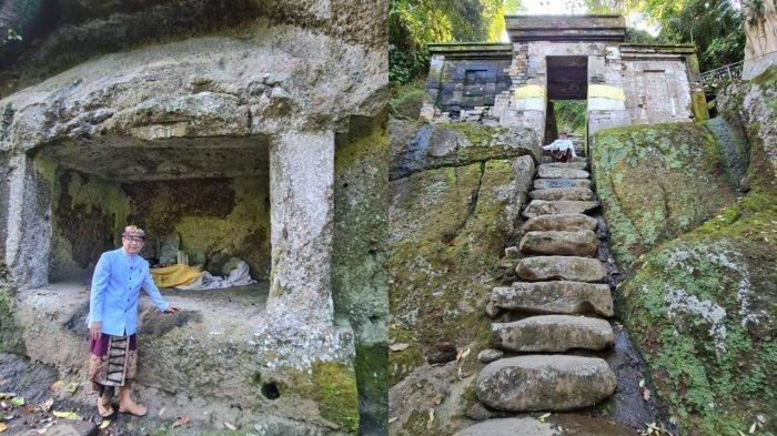 Kisah Kesaktian Kebo Iwa di Goa Garba Gianyar, Tangga Batu Besar Saksi Bisu Aksi Heroik