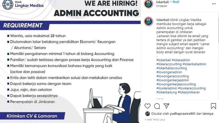 Lowongan Kerja di Jimbaran, Klinik Lingkar Medika Membutuhkan Admin Accounting